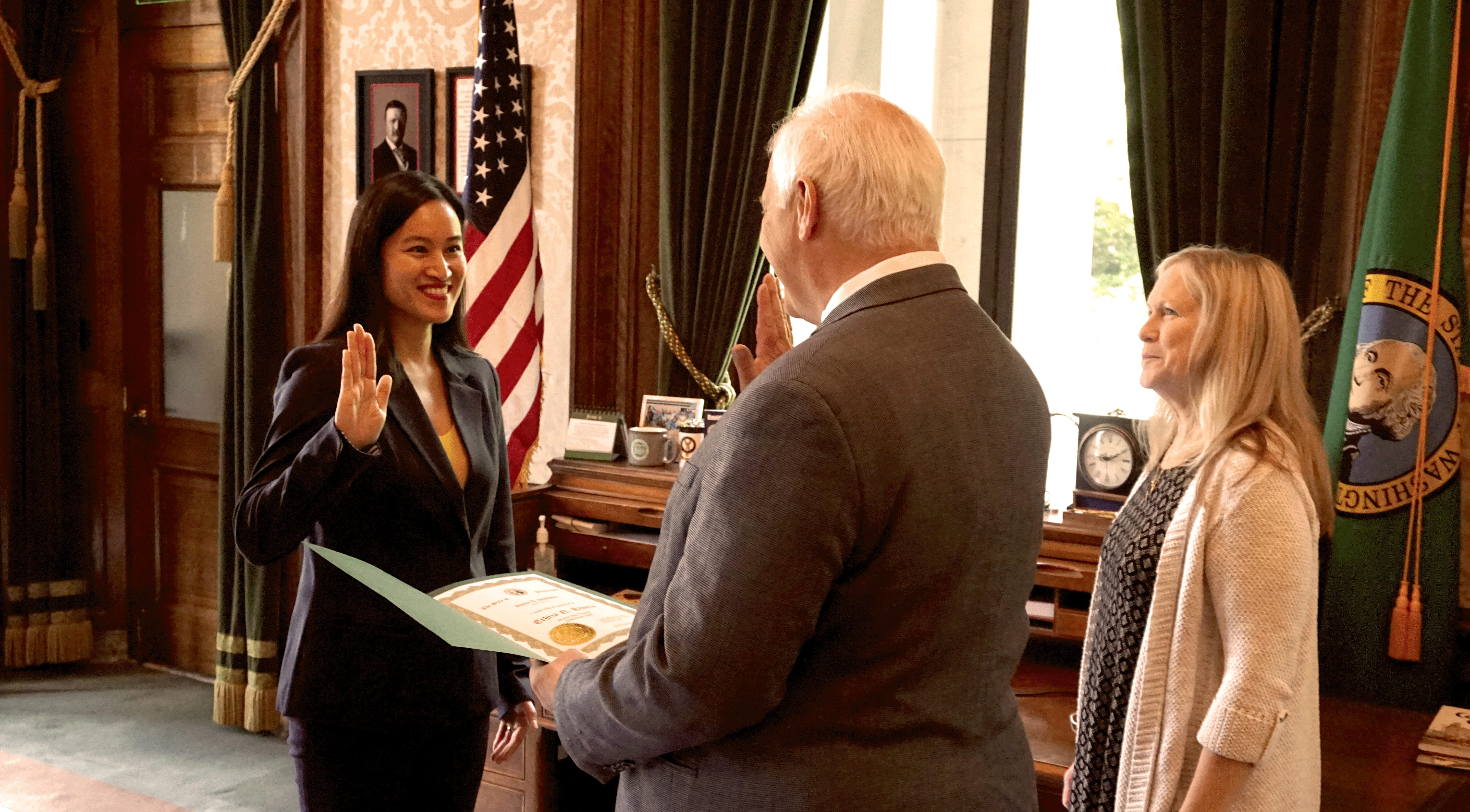 Erhiza Rivera swearing in
