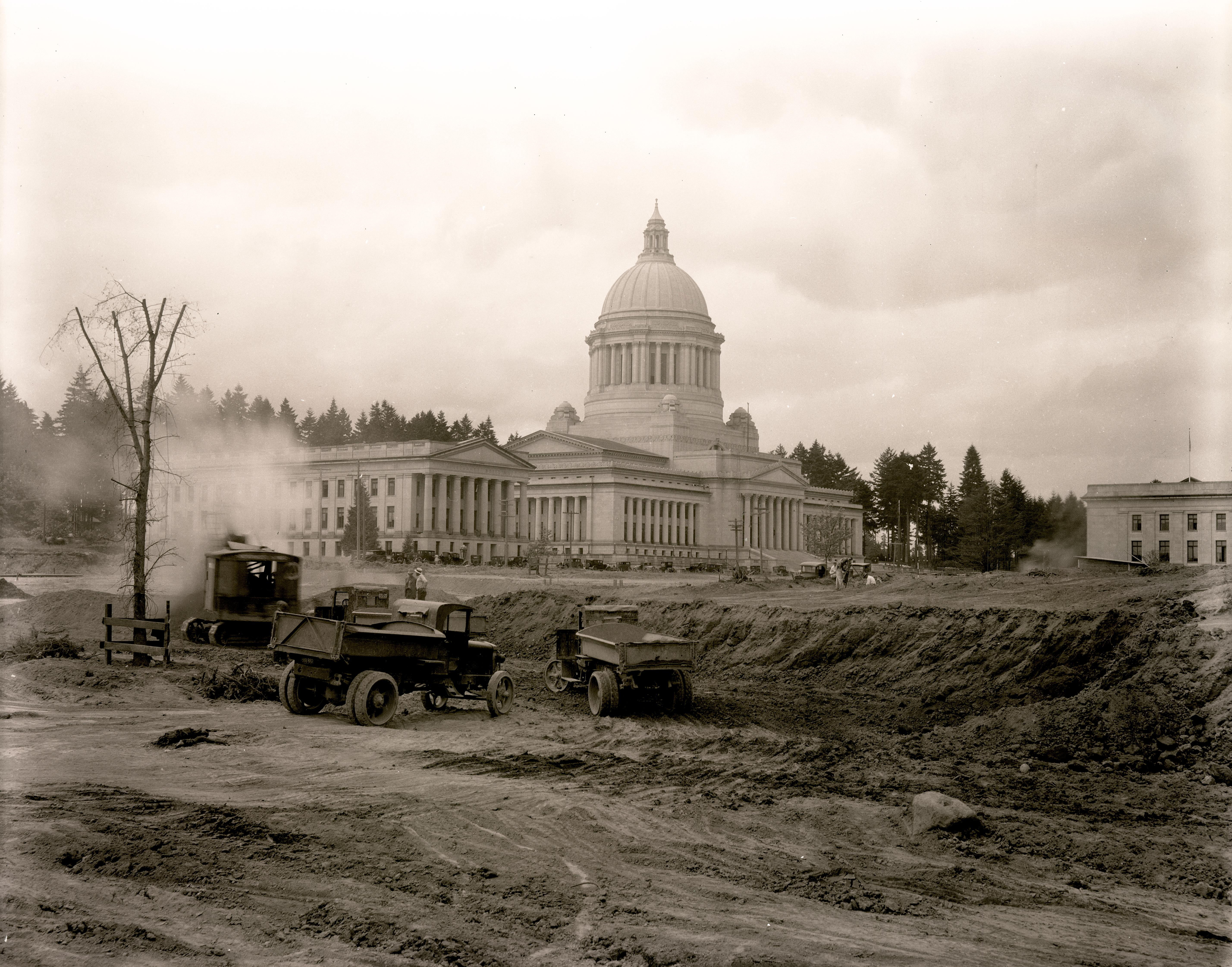 historical photo of capitol campus