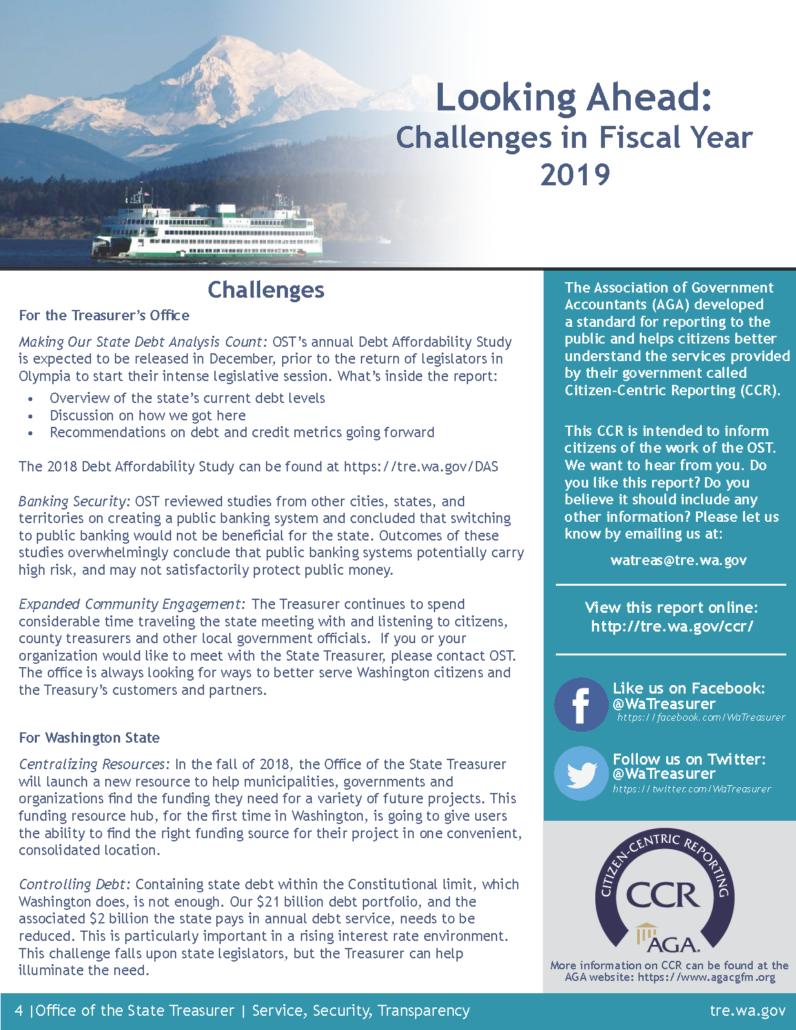 Citizen Centric Reports - Washington State Treasurer